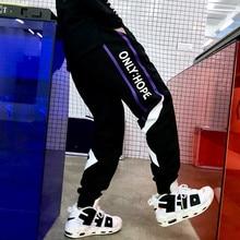 лучшая цена Sports pants men's spring trousers Korean fashion hip-hop pants teenagers wearing Leggings student casual pants