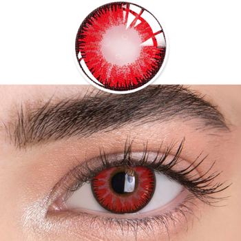 1pair(2pcs) 1 Year Cosplay Sharingan Contact Lenses for Eyes Colored Red Uchiha Sasuke Hatake Kakashi Anime Accessories - 11