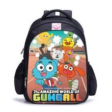 16 Inch The Amazing World of Gumbal Children School Bags Ort