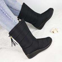 Platform Boots Plush-Shoes Ankle Mujer Women Ladies Casual Winter Down Zapatos