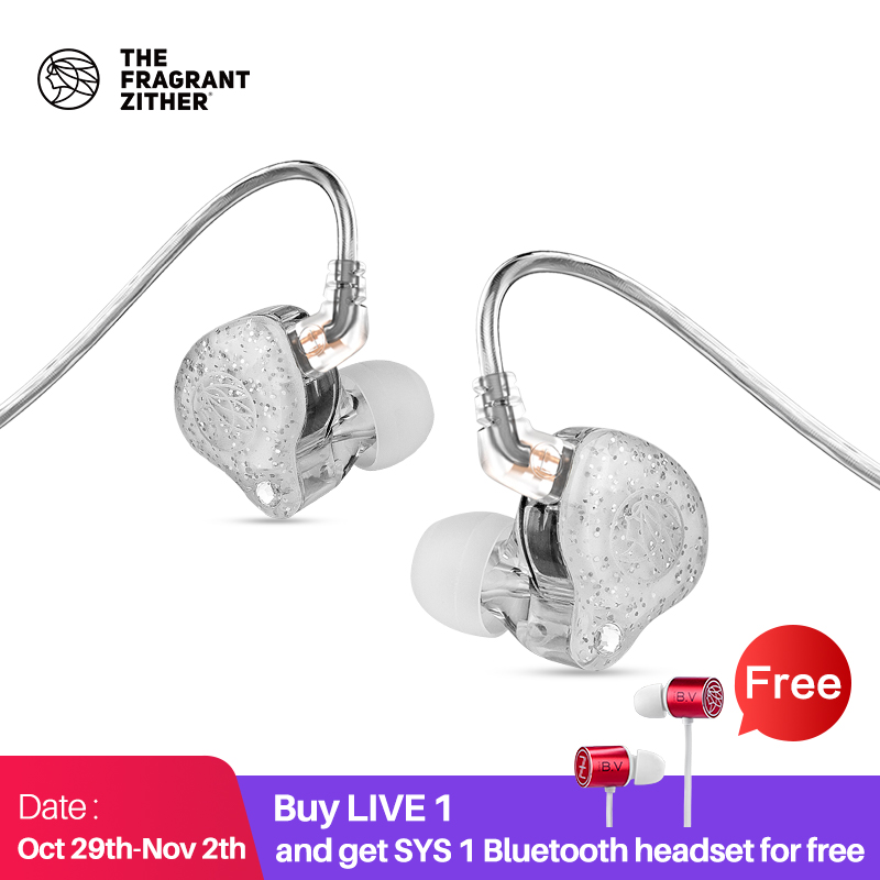 TFZ LIVE 1 Wired  In Ear Earphone with MicrophoneMonitor Running Sport earphones 11 4MM 2DD Graphene Unit