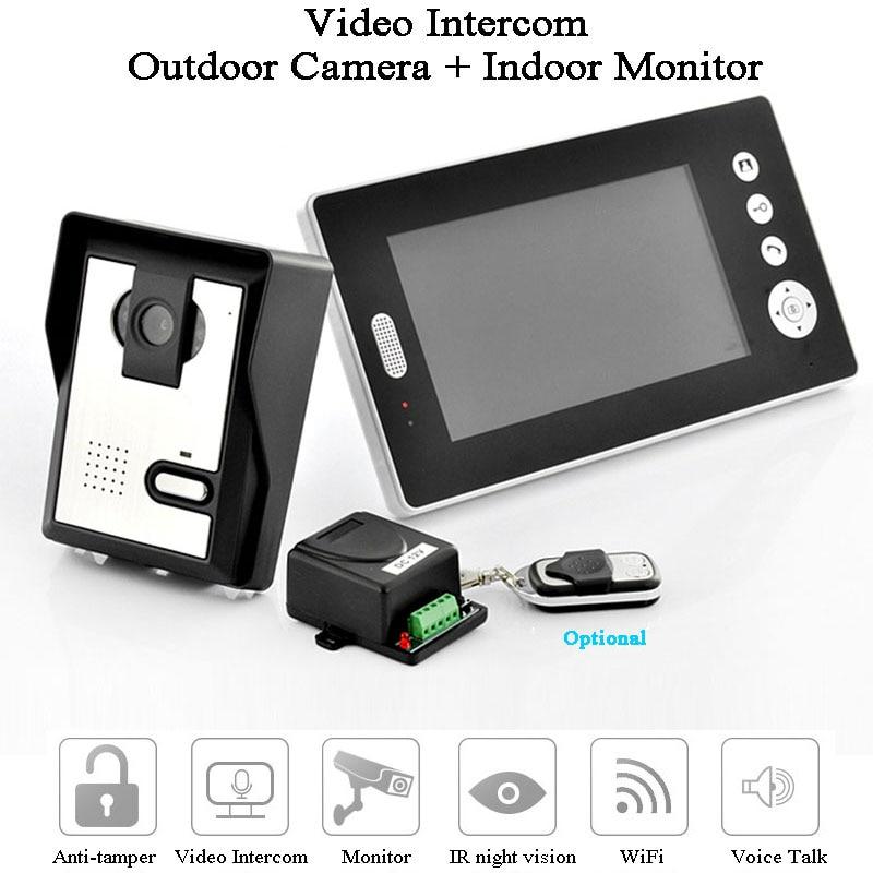 Smart  Video Door Phone 7 Inch Monitor 2.4GHz HD Camera Waterproof Video Intercom Voice Talk Photograph Doorbell Gate Opener