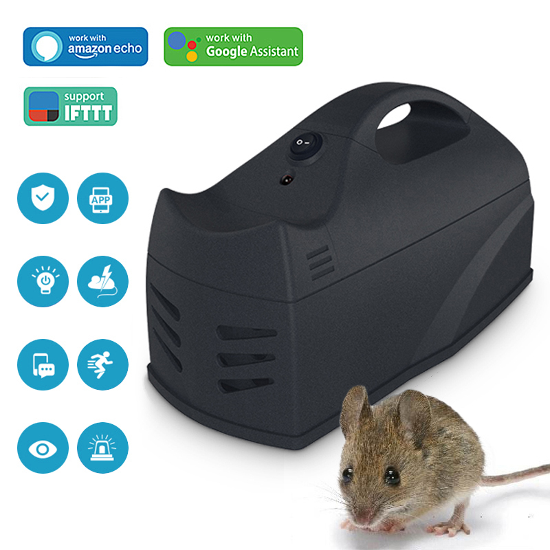 Wireless Mouse Killer Mice Glue Mousetrap Rat Pest Trap Catcher Rodent Killer Control  WiFi Sensor APP Control For Mobile Phone