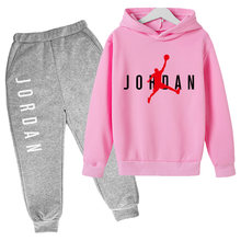 4-14T Sportswear Hooded Trousers Pure Cotton Fashion Clothing Children Boys and Girls Toddler Baby Sleeve Length Tops Type