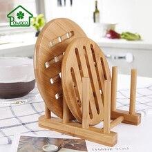 Pawaca 3/6/7/8 Layer Bamboo Dish Rack Drainboard Drying Drainer Storage Kitchen Cabinet Organizer Bowl Cup Holder