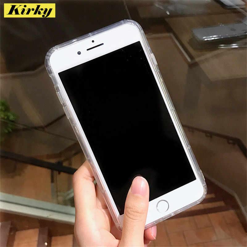 シンプルさガスバッグ Tpu シリコンケース iphone 6 6s 7 8 プラス 11 プロ XR X XS 最大透明 Shockproot 保護ゴム電話ケース