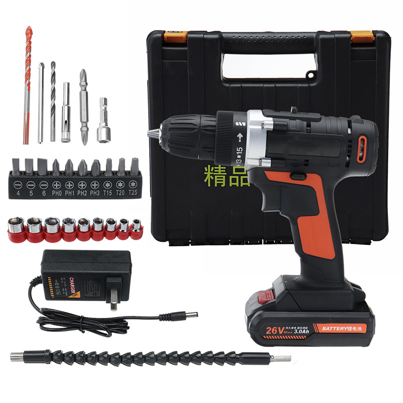 doersupp 26V Electric Screwdriver Lithium Battery Rechargeable Parafusadeira Furadeira Multi-function Cordless Drill Power Tools