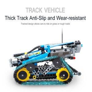Image 3 - تكنيك RC تتبع حيلة متسابق اللبنات صالح Legoing الخالق 42095 APP التحكم عن بعد سيارة الطوب اللعب الهدايا للأطفال