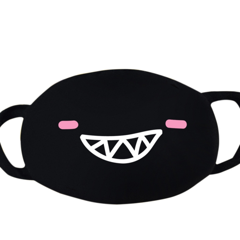COVID-19 Virus Cute Cartoon Mouth Mask Unisex Funny Teeth Pattern Coronavirus Masks Anti-Dust Cotton Face Mask
