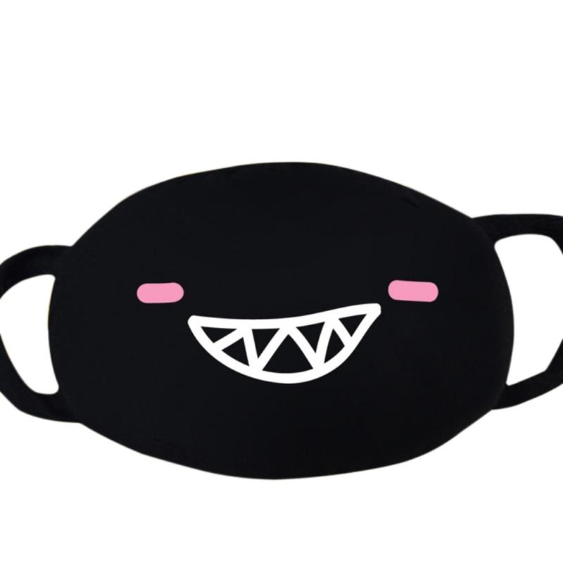 Fashion Cute Cartoon Mouth Mask Unisex Funny Teeth Pattern Masks Anti-Dust Cotton Face Mask Fast Drop Shipping Hot USA Stock