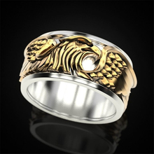 Vintage Golden Eagle Hip Hop Men Ring Motorcycle Party Steampunk Animal Ring Hip Hop Rock Rings Jewelry Men Rings Accessories vintage stainless steel snake rings for male motorcycle party personality steampunk couple rings animal rings men jewelry