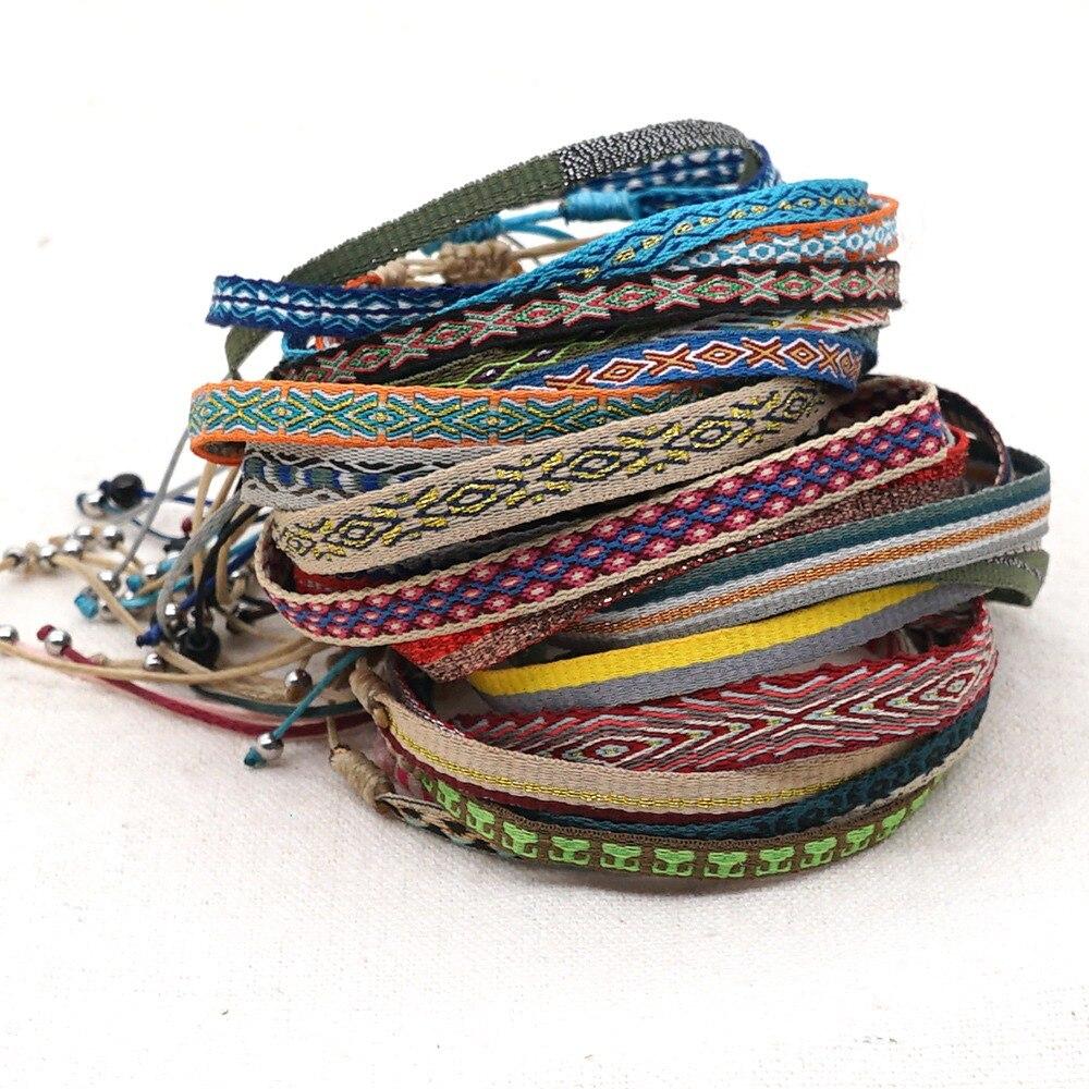 GO2BOHO Women Bracelet Boho Jewelry Braided Bracelets Handmade Weave Trendy Pulsera Mujer Moda Bohemian Bangles Wholesale