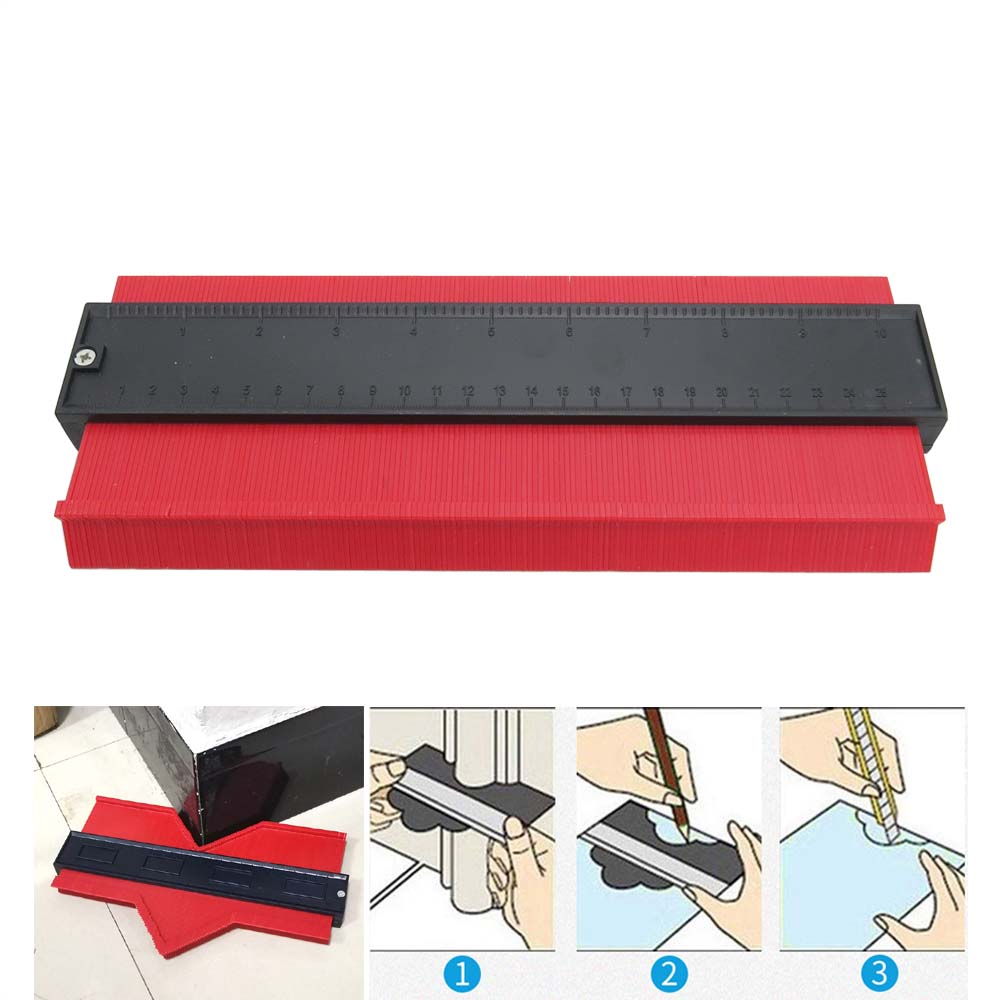 Plastic Contour Gauge Duplicator Profile Gauge Duplicator Irregular Shapes Tracing Template Measuring Tool For Fit