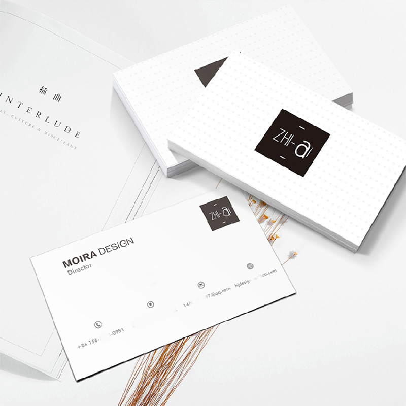 100pcs / 200pcs Custom Logo Paper Business Card Fast Printing Waterproof Smooth Touch 300gsm Business Card 90x53mm FreePrinting