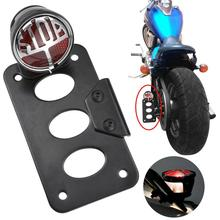 Motorcycle Side Mount Tail Light License Plate Bracket for Harley Chopper Bobber Motorcycle Accessories