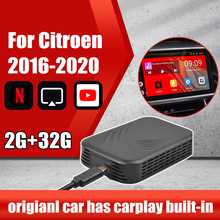 Per Apple TV Per Auto Carplay Nuovo Aggiornamento 2 + 32G Ai Box Per Citroen Specchio Link Android Auto box Lettore Multimediale di Video Box