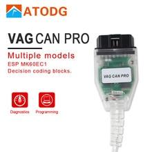 Для VAG CAN PRO Поддержка CAN BUS+ UDS+ K-Line S.W версия 5.5.1 VAG CAN PRO V5.5.1 с FTDI FT245RL лучше, чем VAG и ODIS