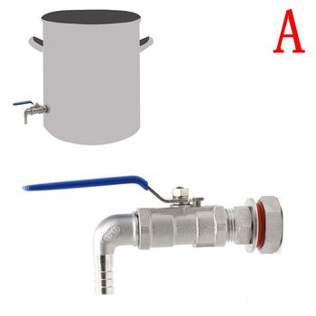 1/2 304 Stainless Steel Weldless Compact Ball Valve & Barb-Homebrew Beer Kettle Pot