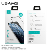 USAMS Full Cover Tempered Glass For iPhone 12 mini 12 pro Max Ultra Thin Screen Protector Film Shatter Proof Protective Glass