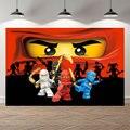 Seekpro фон для фотосъемки с изображением маленьких вечеринка для мальчика день рождение баннер фон и принтом «LEGO Ninjago», Детская Студия фото ба...