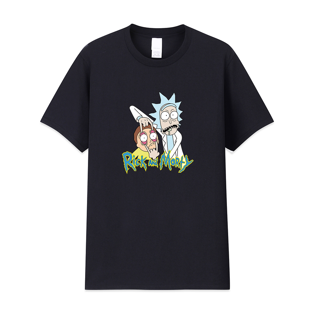 2019 Fashion summer   t     shirt   men summer new Rick And Morty   T  -  shirts   100% cotton high quality   t  -  shirt   Casual tshirt men
