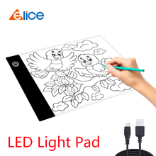 Elice Drawing Tablet Pad LED Drawing Pad Box Board Drawing Tracing Tracer Copy Board Table Pad Led Light Pad Copy Board with Usb 1pcs a4 ultra thin portable usb power led light pad with line tracing copy board light box stencil for drawing painting