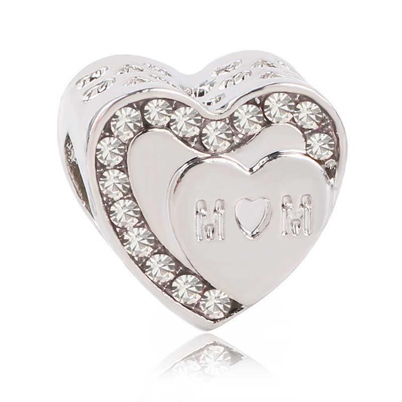 Koń Dird Camera samolot srebrny Mickey Minnie DIY koralik pasuje oryginalny Pandora Charms srebrna kolorowa bransoletka ozdoba biżuteria kobiet