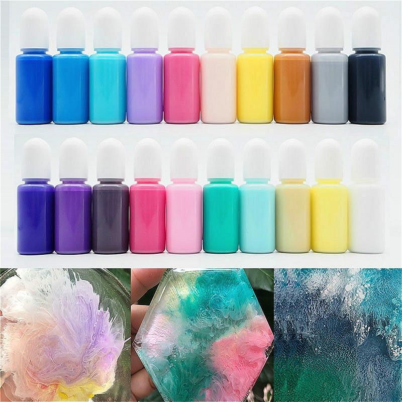 Macaron Series Fluid Artist Epoxy Resin Ink Colorant Pigment Dye Resin Pigment DIY Crafts Art Set Resin Paint Dye 10ml