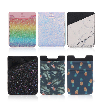 1Pcs Adhesive Sticker Back Cover Credit Card Holder Bag Case Pouch For Cell Phone Women Men ID Bus Card Key Wallet Purse 2019 hot sale fashion adhesive sticker mobile phone back cover card holder case pouch for cell phone support bus card holder