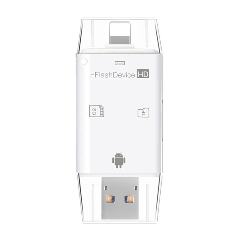 Micro USB OTG kaartlezer Microsd TF SD-kaart voor iPhone 11 Pro X XS MAX XR 5 6 7 8 PLUS voor Samsung voor Huawei Andrid OTG telefoon