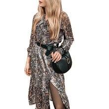 2020 весенние женские сексуальные платья макси со змеиным принтом