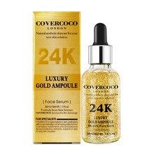 24k ouro rosto soro pele hidratante e hidratante poro-shrinking cosméticos cuidados faciais beleza líquido tslm2