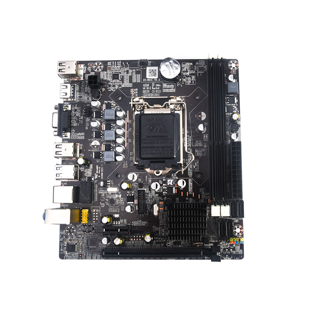 Original NEW Desktop Mainboard For Intel H61 Motherboard LGA 1155 For i3 i5 i7 Processor DDR3 DIMM Memory SATA PCI-E X16 image
