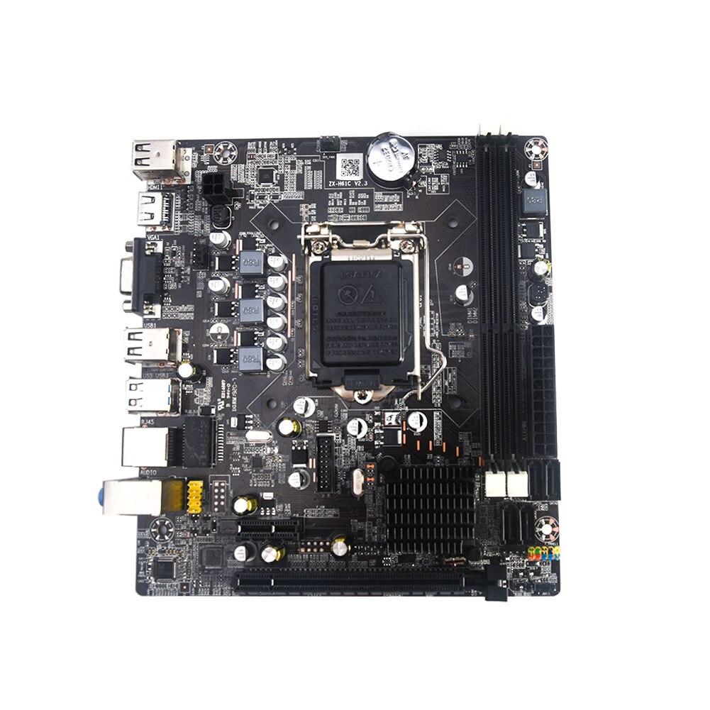 Original nouvelle carte mère de bureau pour Intel H61 carte mère LGA 1155 pour i3 i5 i7 processeur DDR3 DIMM mémoire SATA PCI-E X16
