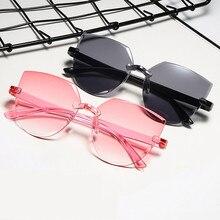 드라이버 고글 빈티지 미러 무테 고양이 눈 선글라스 안경 맑은 바다 렌즈 Steampunk 낚시 안경 음영 UV400