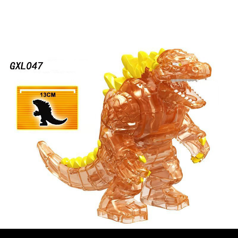 Single Sale Legoinglys Action Collection Toy Famous Movie Character Red Lotus Mutant Dinosaur Building Toys For Children GXL047