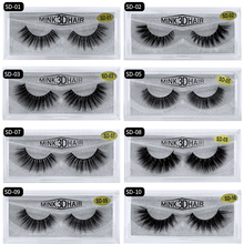 Mangodot Eyelash 3D Mink Eyelashes 1Pair Thick Fake Lashes Luxury HandMade Volume Extension Reusable False SD10