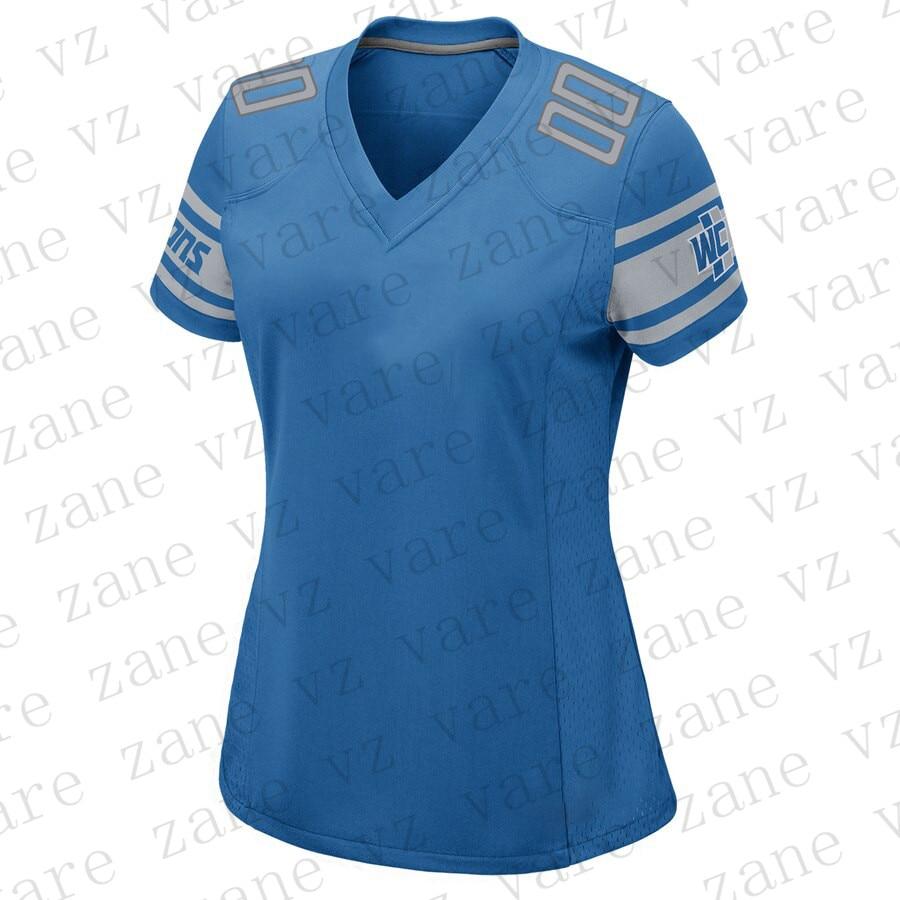Customize Women American Football Jerseys Barry Sanders Matthew Stafford Darius Slay Kerryon Johnson Cheap Detroit Jersey