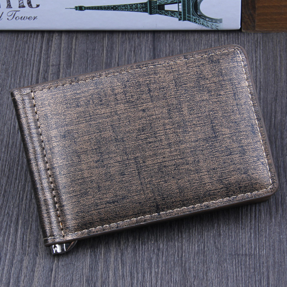 Casual Men's Wallets Leather Solid Luxury Wallet Men Pu Leather Slim Bifold Short Purses Credit Card Holder Business Purse#C2
