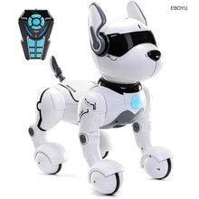 Jxd a001 smart talking rc robô cão caminhada & dança interativa pet filhote de cachorro robô cachorro controle remoto de voz brinquedo inteligente para crianças