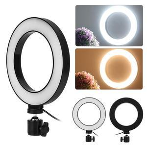 Image 3 - 6 אינץ LED טבעת אור Selfie למלא מנורת 10 רמות בהירות Dimmable 3 מצבי אור לסלון שידור/צילום/הקלטה