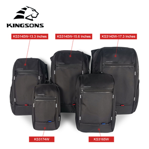 Image 5 - KINGSONS High Quality Laptop Backpack Men Women Fashion Business Casual Travel Backpack Shoulder Bag With External USB Charge