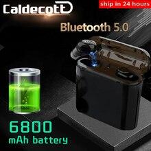 Più nuovo TWS Auricolari Senza Fili Cuffie Bluetooth 5.0 Auricolari come Accumulatori E Caricabatterie Di Riserva di Sport Auricolare Noise Cancel Cuffia del Trasduttore Auricolare