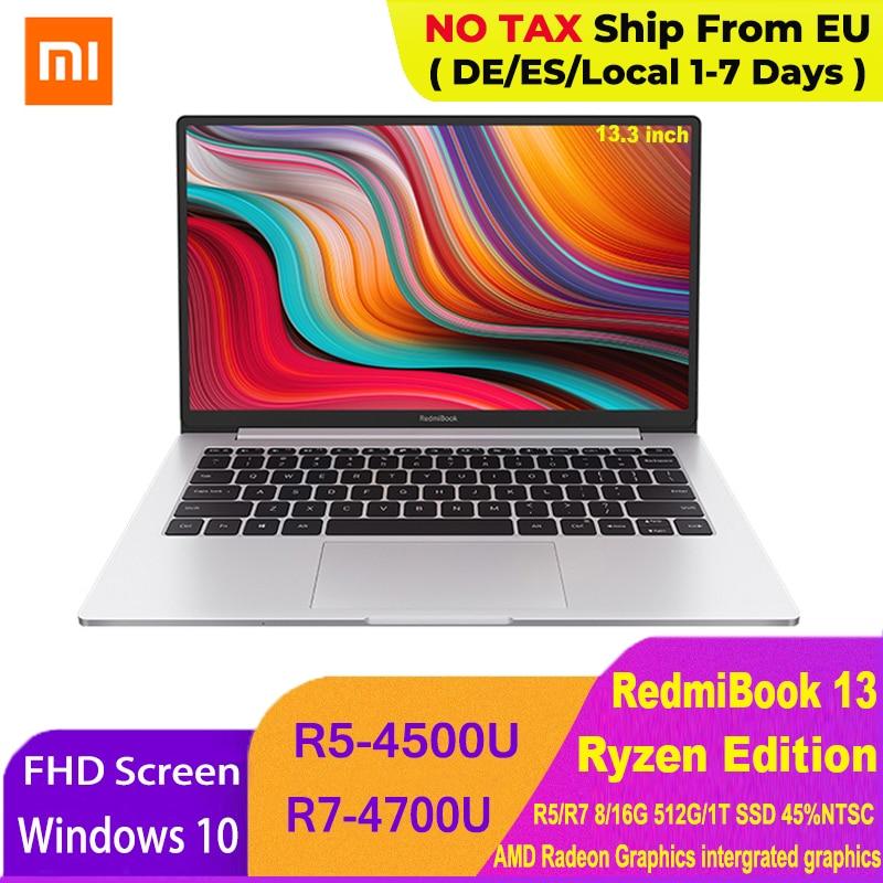 Ноутбук Xiaomi RedmiBook 13, Ryzen Edition, ноутбук AMD Ryzen 4700U/4500U, 13,3 дюйма, 512 ГБ/1 ТБ SSD, Windows 10 компьютер