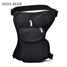 Мужские холщовые сумки с заниженной талией, набедренная сумка, мужская сумка с ремнем для велосипеда и мотоцикла, поясная сумка для работы черного цвета высокого качества