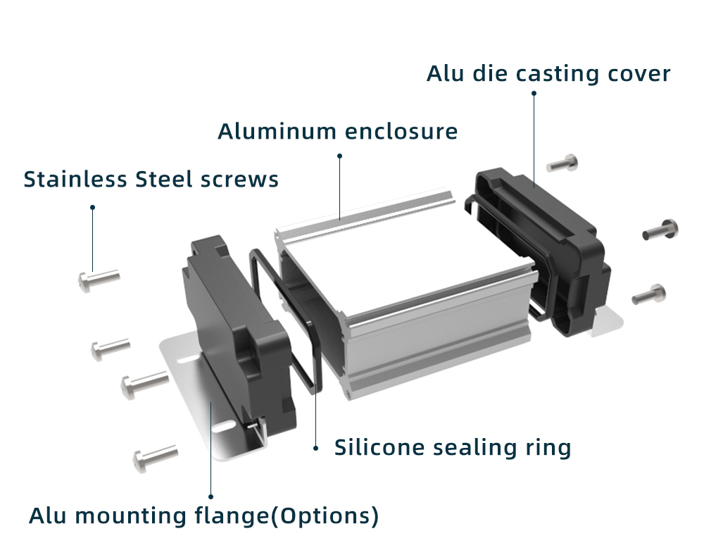 Diy fornece peças de alumínio de saída