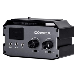 Comica Cvm-Ax3 Xlr Audio Mixer Adapter Preamplifier Dual Xlr/3.5Mm/6.35Mm Port Mixer for Canon Nikon Dslr Camera Camcorder
