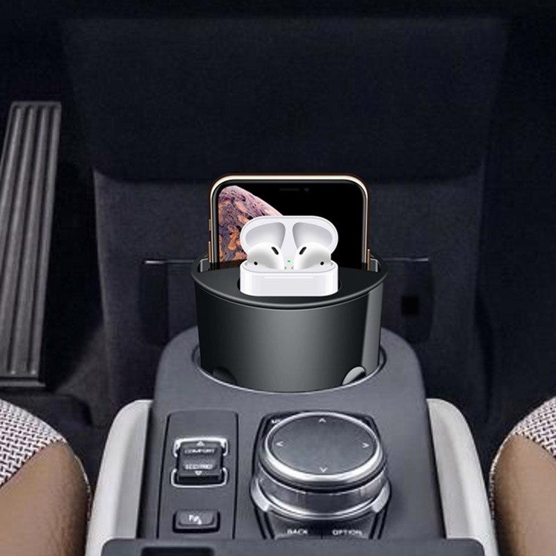 4 в 1 автомобильное беспроводное зарядное устройство чашка 10 Вт док станция зарядный держатель для iPhone XsMax Xr8 airpods универсальное QI быстрое зар