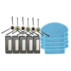 Rolo principal escova lateral filtro hepa robô aspirador de pó mop pano para Ecovacs Deebot DE55 DE53 partes escovas de substituição do filtro