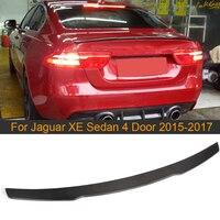 Carbon Fiber Kofferbak Boot Lip Spoiler Voor Jaguar Xe Sedan 4 Deur 2015 - 2017 Kofferbak Spoiler wing Black Frp